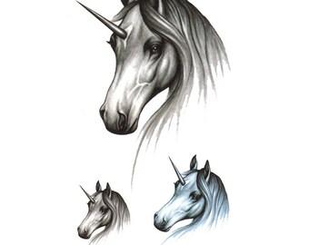Unicorn Tattoo Sheet - 1 Pc