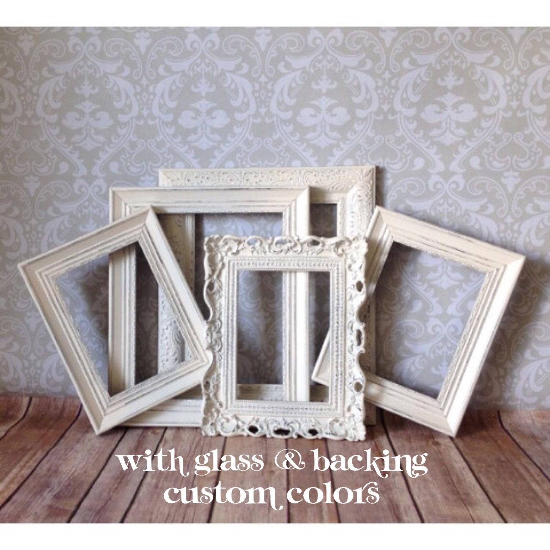 shabby chic picture frames wedding decor antique white. Black Bedroom Furniture Sets. Home Design Ideas