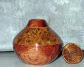 Snap & Rattle Burl with Bubinga Turned Wood Miniature Pot