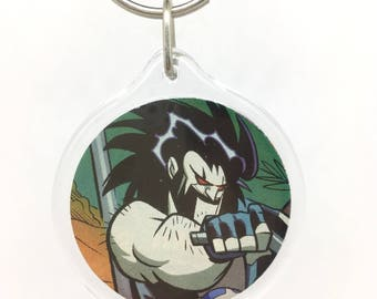 Upcycled Comic Book Keychain Featuring - Lobo