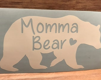 Momma Bear Vinyl Decal