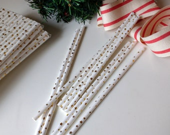 Gold Star Straws , Drinking Straws,  ,Wedding Straws, Christmas