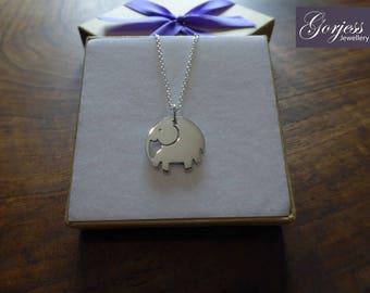 Chunky Elephant Pendant Necklace