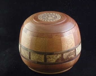 Mahogany & Black Ash Burl Pet Urn # R1064-52