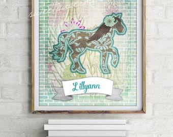 Horse ~ Artwork ~ Decorative Printable ~ Room Sign