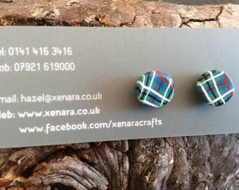 Tartan studs - Scottish gift - Scottish jewellery