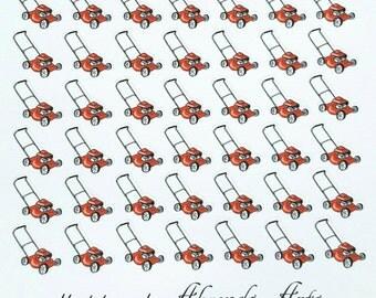 Lawn Mower Planner/Journal/Bullet Journal Stickers