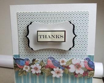 Thanks - Handmade Thank You Card