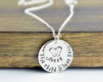 Adoption Jewelry, For This Child We Have Prayed, Mommy Necklace, Mom Jewelry, New Birth, Baby Shower Gift, Gifts for Mom, Mom Gift