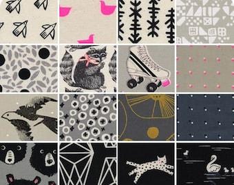 PRESALE - Black and White 3 - Half Yard Bundle - Cotton + Steel - CSBW3-HY - 16 Prints