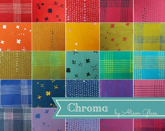 PRESALE - Chroma Handcrafted - Half Yard Bundle - Alison Glass for Andover - AGCH-HY - 27 prints