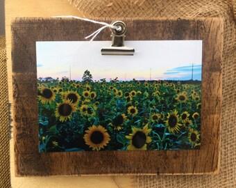 Rustic Clip Board Photo Holder