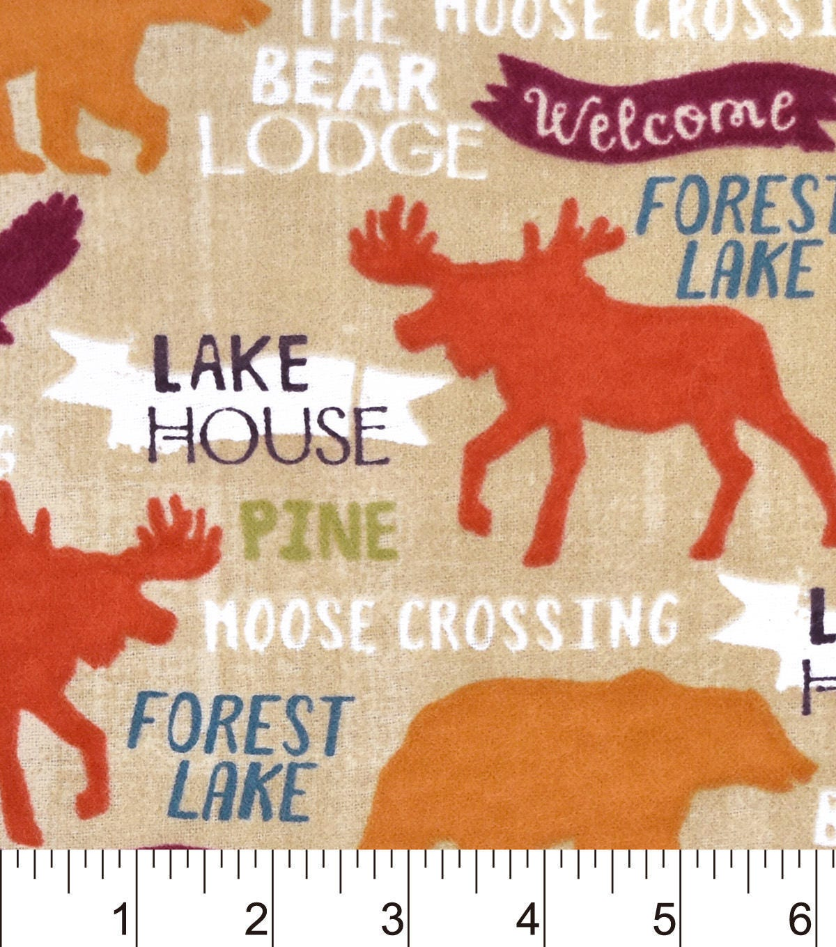 Forest Lake Fabric Home: Snuggle Flannel Fabric