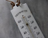 Antique French Barometer, thermometer, Enamel, Metal Circa 1900-1910