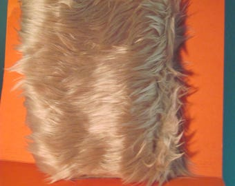 Super Soft Luxury Shag Pile Faux Fur Fabric Remnant for Trimming Doll Clothes