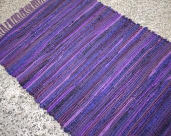 Rag Rug Royal Purple 2' x 4' or 2' x 3' Handwoven