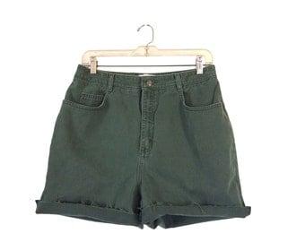 Army Green Shorts Denim Cutoffs 90s Shorts High Wasted Shorts Highwaisted Shorts High Waisted Shorts Cutoff Jean Shorts Frayed Shorts 1990s