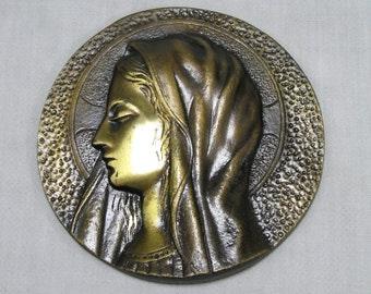 Bronze Plaques, Religious Plaques, Wall Mounted Bronze, Wall Plaque, French Bronze Wall Plaque, Religious Bronze Wall Plaque, Religion (231)