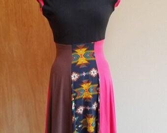 Women's extra small hexagon skirt hooded dress