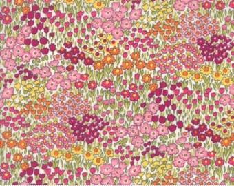 Regent Street Lawn 2016 by Moda - Floral Camden - Multi Wiste - FQ Fat Quarter Cotton Lawn Fabric 117