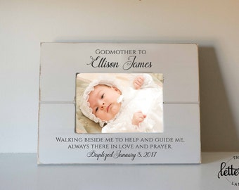 Godmother picture Frame, godfather frame, godparent gift, baptism picture frame, godchild gift, christening, dedication picture frame