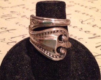 1980 sterling silver spoon ring
