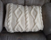 Reserved for Desiree - Cable Knit Throw Blanket