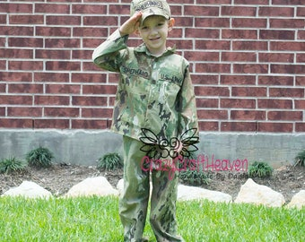 OCP child uniform, military costume, Welcome home, deployment, multi cam, welcome home outfit, military baby, army baby, army, navy, marines