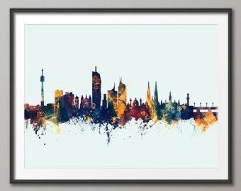 Vienna Skyline, Vienna Austria Cityscape Art Print (2694)