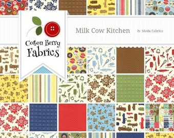 25% Off Sale Milk Cow Kitchen Layer Cake by Mary Jane for Moda - One Layer Cake - 11610LC