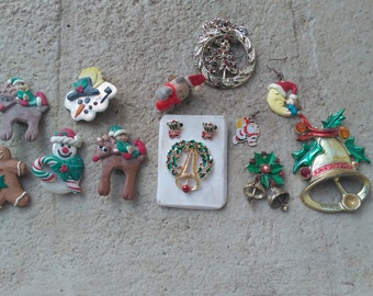 Christmas Themed Jewelry Supply Destash