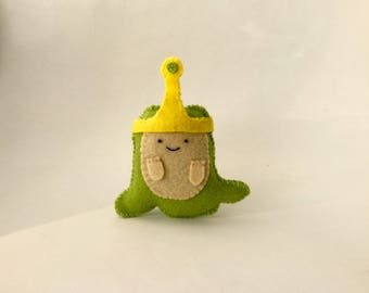 Slime Princess!  Adventure Time inspired handmade felt toy / figure / gift