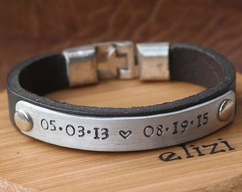 EXPRESS SHIPPING, Mens personalized bracelet, Men bracelet, Custom Jewelry, Custom Personalized Bracelet, Id bracelet, Gift for Birthday