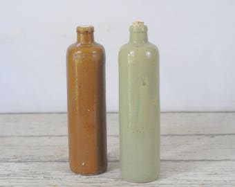 Vintage Stoneware Clay Bottles Vinegar Bottle?