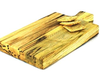 """Wine and Cheese Board - Spalted Silver Maple - Ready to Ship - 11""""x6""""x1"""""""
