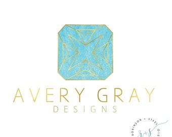 Jewelry Logo, Pre-Made Logo, Photography Logo, Event Planner Logo, Interior Designer Logo, Logo, Gold Foil, Watercolor, Chic Logo, Premade