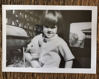Original Vintage Photograph Lauren & Bear 1966