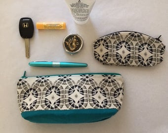 Zippered Purse Organizer, Clutch, Change Purse