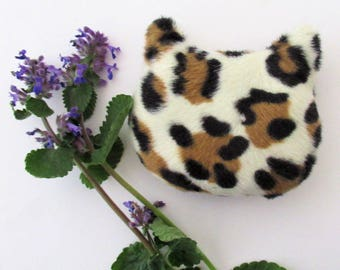 catnip cat toy, animal print cat toy, catnip, cat gift, toys for cats, plush cat toy