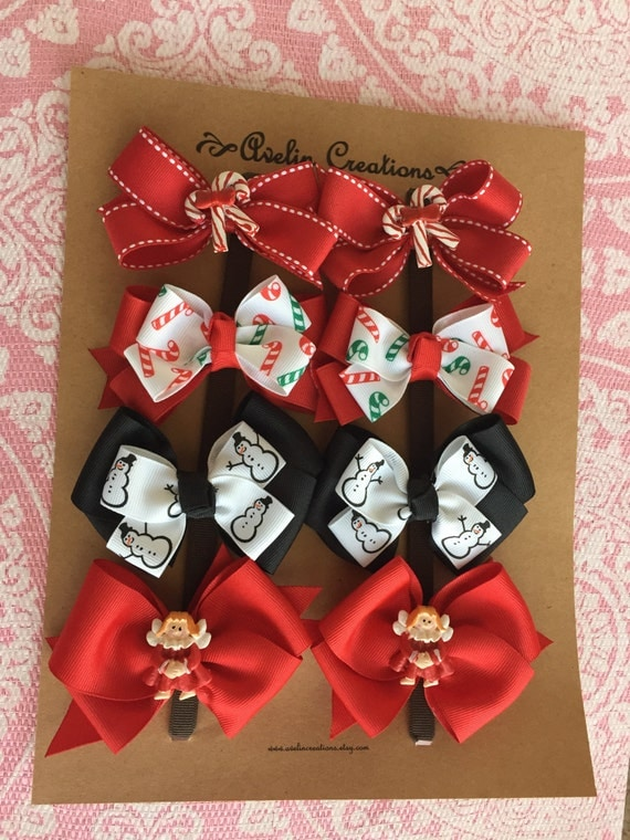 READY TO SHIP---Holiday Pigtail Sets