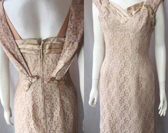 1950s 1960s lace dress suit