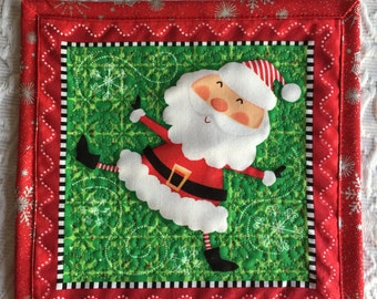 Santa Claus Mug Rug Coaster Placemat