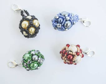 Hogwarts House Colors Beaded Zipper Pulls Beaded Beads Harry Potter Themed Knitting Sewing Notions Gift Ideas