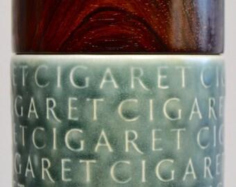 Jens Quistgaard lidded cigaret jar AZUR stoneware rosewood lid Kronjyden Nissen mid century