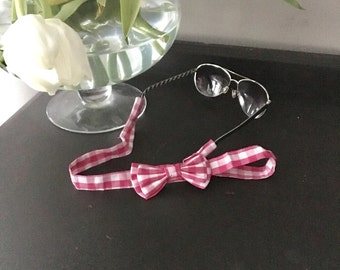 Pink Gingham Sunglasses Straps