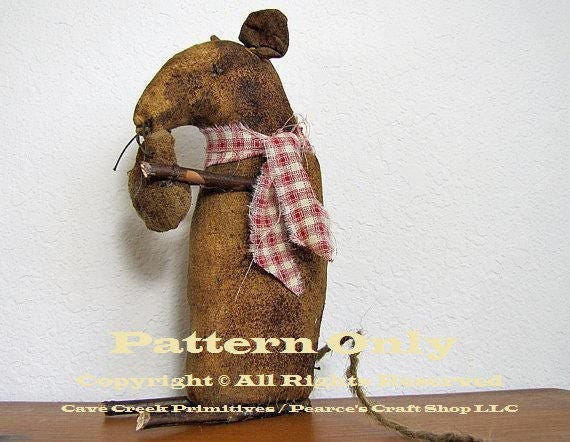 Primitive Mouse Pattern Sewing Patterns Primitive Animal