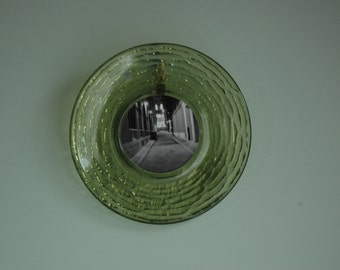 SALE*  Recycled plate with print ready to hang!
