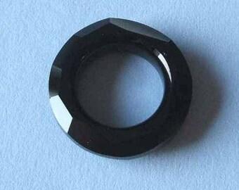 1 SWAROVSKI 4139 Cosmic Ring Crystal Bead 30mm JET