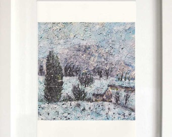 Print of Secrets covered up by snow