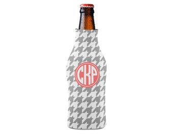Personalized Bottle Insulator, Houndstooth - DIY Custom Bottle Insulated Beverage Container